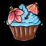 Blueberry Pina Colada Cupcake