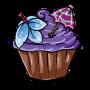 Grape Pina Colada Cupcake