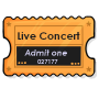 Live Concert Ticket Stub