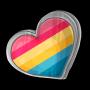 Pansexual Heart Pin