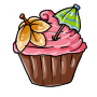 Strawberry Pina Colada Cupcake